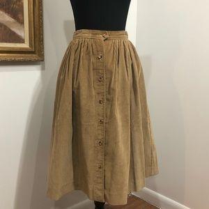 Vintage corduroy midi-skirt